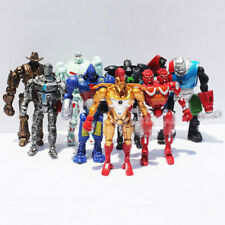 8x Real Steel Movie Atom Noisy Boy Midas Twin Cities Zeus PVC Action Figures