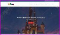 WALT DISNEY Website Earn £367.20 A SALE|FREE Domain|FREE Hosting|FREE Traffic
