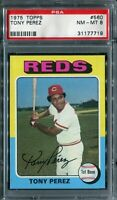 1975 Topps #560 Tony Perez PSA 8 NM-MT