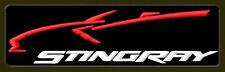 """STINGRAY CORVETTE EMBROIDERED PATCH ~5-1/2""""x 1-5/8"""" C7 BORDADO PARCHE AUFNÄHER"""