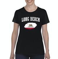 Long Beach California Women Shirts T-Shirt Tee