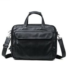 "Men Leather Briefcase 15"" Laptop Bag Shoulder Bag Satchel Travel Bag Handbag"