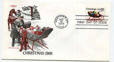 2428 Christmas 1989 Sleigh, Artmaster FDC