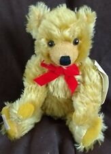 """DEANS MOHAIR TEDDY BEAR - WALTER - 16"""" - NEW - HAND SIGNED BY NEIL MILLER"""