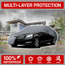 Motor Trend Indoor Outdoor 4-Layer Full Car Cover All Weather Protection