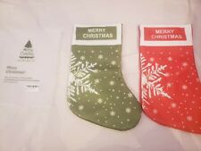 Chrismas stocking 2 pack BRAND NEW RED AND GREEN