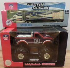 New York Giants Diecast lot of 1:80 Scale Hauler 1:32 Scale Truck 080818DBT