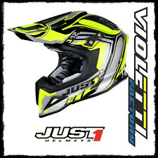 CASCO JUST CROSS CARBONIO JUST1 J12 FLAME YELLOW BLACK 2018 TG M