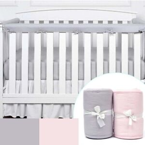 3-Piece Padded Baby Crib Rail Cover Protector Set From Chewing, Safe Teething'