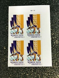 2020USA #5523 Forever Women Vote - 19th Amendment - Plate Block of 4  mint