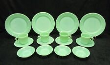 Vintage Jadeite Jadite Fire King Restaurant ware set. Minty Mint !!!! 16 Pieces