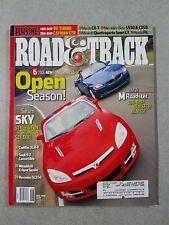 Road & Track Magazine June 2006 Mercedes-Benz S550 & SL550 BMW M Cadillac XLR-V