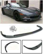 EOS ZR1 Style PRIMER BLACK Front Bumper Lip Splitter For 05-13 Corvette C6 BASE
