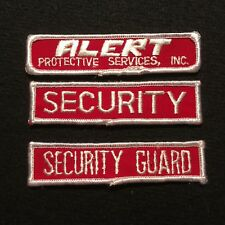 ALERT Protective Services Inc. Security Guard Tab Patches