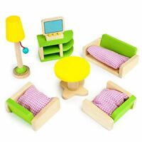 "Luxurious Living Room Colorful Wooden Dollhouse Furniture for 2-4"" Dolls"