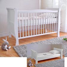 Babybett Kinderbett Juniorbett Massivholz Deluxe Matratze Aloe Vera