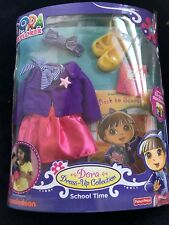 New Dora The Explorer Dress Up Collection School Time & Story Book Fisher Price