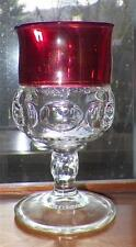Kings Crown Ruby Stained Water Goblet Tiffin Franciscan 4016 Elegant Glass NICE