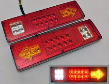 2 x 12V LED FEUX LAMPES ARRIERES CAMION REMORQUE FOURGON CARAVANE CAMPER *19 LED