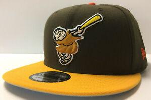 San Diego Padres New Era 9FIFTY Snapback Hat Cap Swinging Friar 2Tone 950 Retro