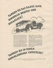 J1135 Automobili CHRYSLER Company - Pubblicità grande formato - 1927 Old advert