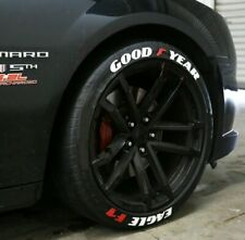 """GOOD YEAR EAGLE F1 FULLSET 8pieces Tire Letters stickers HIGH QUALITY 14"""" to 22"""""""