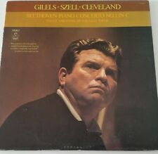 Gilels Szell Cleveland Beethoven Piano Concerto No.1 In C LP Vinyl S-36027