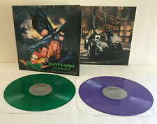 BATMAN FOREVER Soundtrack DOUBLE Lp GREEN / PURPLE Vinyl Record , pj harvey , u2