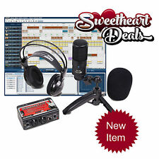 NEW Pro Pack recording bundle package kit Studio mic dual interface headphones!