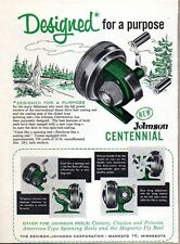 1959 Print Ad Johnson Centennial Fishing Reels Made in Mankato,MN
