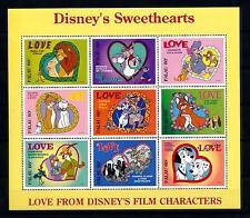[56480] Palau 1996 Disney Love Lion King Dogs Fox Cats MNH Sheet