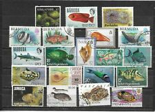 FISH/Marine life nice group of issues with many better noted Fine Used