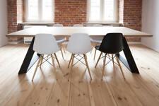 Tavolo moderno Industrial design – Top in legno massello di Cedro