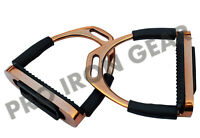 5'' ROSE GOLD HORSE FLEXIBLE SAFETY STIRRUPS RIDING BENDY STAINLESS STEEL