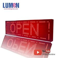"8"" X 27"" Red Indoor Programmable LED Scrolling Sign Semi Outdoor Board Display"