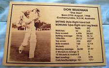 Don Bradman Gold Plaque picture and stats new 150x80mm