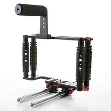 Kamerar TK-3 DSLR Camera Video Cage w/rod support +Top Handle For Canon 5D 6D 7D