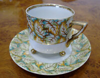 Vintage Tea Cup and Saucer - Hand Painted - Gold trim