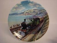 BRADEX & DAVENPORT POTTERY GREAT STEAM TRAINS THE OCEAN MAIL PLATE