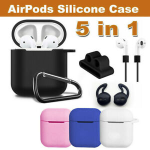Silicone Case Cover Skin & Strap Holder For Apple Airpod Accessories Airpods AU