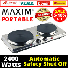 Portable Electric Double Hot Plate Cooker Dorm RV Travel Cooktop Countertop Cook