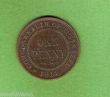 1911  AUSTRALIAN BRONZE PENNY COIN