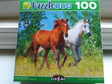 New 100 Piece Jigsaw Puzzle (Running Horse Buddies) Great for Kids and Adults!