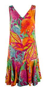 Lauren Ralph Lauren Women's Petite Floral-Print V-Neck Sleeveless Dress