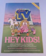 "Vintage 1980s ""Kideo TV"" magazine ad, Lady Lovely Locks, Popples + -  ephemera"