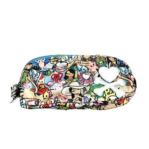 TokiDoki Cosmetic Bathroom Small Bag Cartoon Travel Zippered Tote Heart Bones