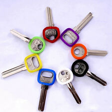 8pcs Bright Colors Silicone Key Cap Covers Hollow Topper Keyring + Bly Braille