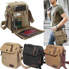 Men's Vintage Messenger Canvas Shoulder Bag Handbag Work Travel Hiking Casual