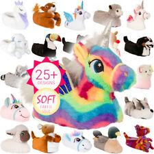 Nuevo Para Mujeres y Chicas Novedad carácter felpa Unicornio 3D UK3-8 Señoras Zapatillas de animales