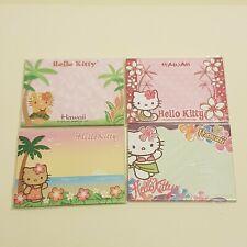 4 x New Rare Hello Kitty Hawaii Sticky Note Pad 40 Sheets Each Kawaii Cute